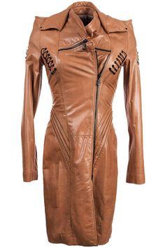 457 € was 2480 € Sophia Kokosalaki women's leather coat Rick Owens Balmain