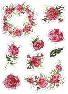 Скрапбукинг, рукоделие Meme Stickers, Phone Stickers, Printable Stickers, Planner Stickers, Fairies Photos, Scrapbook Stickers, Flower Crafts, Sticker Paper, Prints