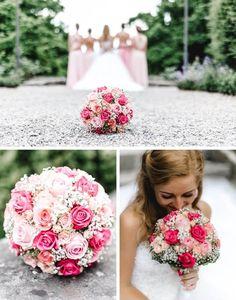 HEIRATEN AM BODENSEE! Ein würdiger rosa-pinker Brautstrauß für die Prinzessinnen-Braut vom Bodensee. Mehr Inspiration im Blog...