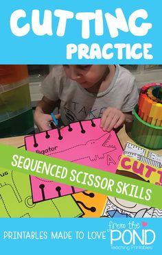 Scissor Skills Preschool Activities Cutting Practice Alphabet Component