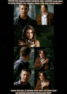 """Sam's just """"WHAT DID *I* DO?? Dean's the one that tested you!"""""""