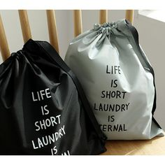 2NUL Cotton laundry drawstring pouch ver.2 - fallindesign.com