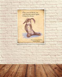 Velveteen Rabbit Wall Art Velveteen Rabbit by CreativeArtandInk