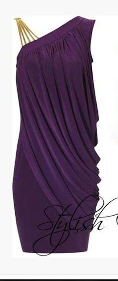 dress short dress one shoulder dress plum dress eggplant purple dress draped asymmetrical