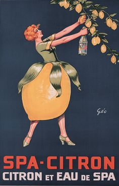 Poster by Géo (Georges Dorival), ca 1930s, Spa-Citron. (F)