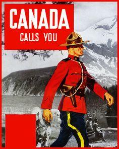 Vintage Style Travel Poster - Canada - via paul.malon