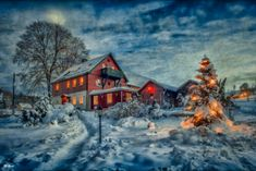 schweden oder seiffen im erzgebirge Dream Pictures, Cabin, In This Moment, House Styles, Winter, Painting, Home Decor, Window Glass, Small Candles