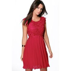 Boohoo Boutique Elizabeth Corded Lace Pleated Skater Dress (1,675 INR) ❤ liked on Polyvore featuring dresses, sequined dresses, maxi dress, bodycon dress, sequin maxi dress and body con dresses