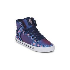 Supra VAIDER Shoes (High-top Trainers) (150 AUD) ❤ liked on Polyvore featuring shoes, sneakers, high top trainers, purple, women, supra sneakers, supra footwear, hi tops, leather shoes and supra shoes