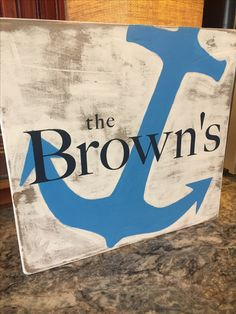 Custom wood sign, nautical, distressed wood, anchor