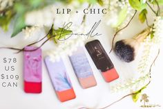 ✨Lip + Chic Bundle: Très Magnifique! This show-stopping bundle features the Gatsby Quad compact filled with 4 of our favorite pink Lip + Cheek shades - Cindy, Lolli, Tropicana, Ballerina and the crowd-pleasing B Squared double-ended brush. This season's trendsetter has arrived! Stepping out in style has never been so effortless. $78 US/$109 CAN Makeup Sale, Day Makeup, Makeup For Moms, Pink Lips, Canning, Chic, Gatsby, Quad, Ballerina