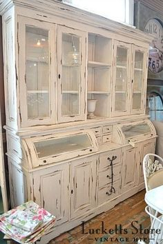 Glass Front Cabinet- Lucketts Store
