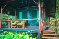 La Leona's tent cabin entrance La Leona Ranger Station, Corcovado National Park
