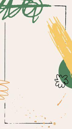Black frame on beige scribble patterned mobile phone wallpaper vector | premium image by rawpixel.com / katie Black Phone Wallpaper, Framed Wallpaper, Graphic Wallpaper, Screen Wallpaper, Mobile Wallpaper, Aztec Wallpaper, Frame Instagram, Instagram Frame Template, Instagram Background