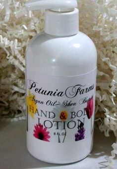 Sponge Cake 8oz Hand and Body Lotion - Petunia Farms Hand and Body Lotion. 8oz bottle of Petunia Farms Premium Hand and Body LotionMade with skin loving oils including:Grape Seed Oil, Avocado, Jojoba, Shea Butter, Aloe Vera, and Argan Oil. Use this as an all-over body lotion to soothe your senses and smooth your skin!Moroccan Argan Oil is known to be unusually rich in vitamin E and essential fatty acids,Argan Oil helps to nourish and revitalize your skin. Grapeseed oil contains antioxidants…