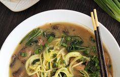 "Miso mushroom zucchini ""ramen"" noodles - Mytaste.com"