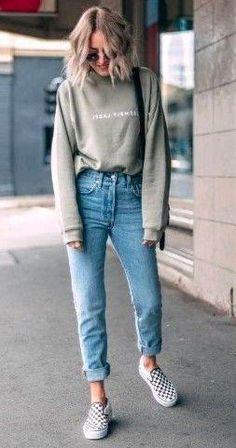 Outfit For Girls - Skinny Streetwear Jeans Zippers Fashion Women High Waist Penc. Outfit For Girls - Skinny Streetwear Jeans Zippers Fashion Women High Waist Pencil Pants Casual School Outfits, Teen Fashion Outfits, Mode Outfits, Fashion Pants, Look Fashion, Fashion Women, Womens Jeans Outfits, Fashion Trends, Sporty Fashion