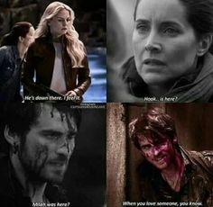 OUAT ~ This took me a minute to get but then I realized how big it was. This proves that Hook has finally moved on from Milah. Emma has helped him move on from a woman who he spent centuries trying to avenge. So neither of them could feel that they were there.