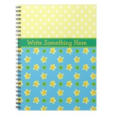 Shop Spiral Notebook to Personalize Primroses, Polkas created by poshandpainterly. Personalize it with photos & text or purchase as is!