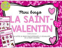 Bingo pour la Saint-Valentin (Valentine's Day Bingo) en français!