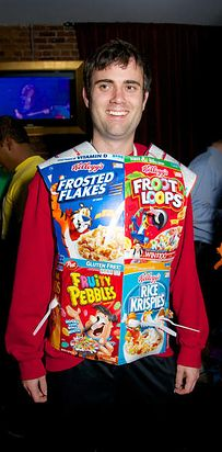 Cereal killer. | 26 Hilariously Clever Halloween Costumes