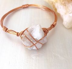 Druzy bracelet, white druzy bracelet bangle, druzy crystal bracelet bangle, raw…