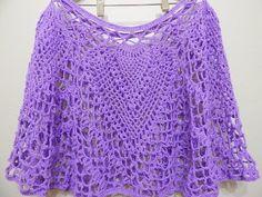 Capa tejida con 250 grs. se puede tejer en cualquier tamaño es muy original y bonita, con hilo o estambre a su gusto.