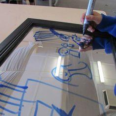 """Whiteboard markers on a mirror... from Listen - Joanne Haynes ("""",)"""