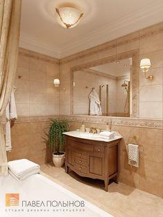 Фото: Дизайн ванной комнаты - Квартира в классическом стиле, ЖК «Привилегия», 135 кв.м.