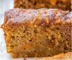 Carrot Apple Bread - Carrot cake with apples added and baked as a bread so it's healthier! Super moist, packed with flavor, fast and easy! I'm going to have to experiment for a perfect gf df :) Definitely using coconut sugar in place of Brown sugar Carrot Bread Recipe, Apple Bread, Easy Bread Recipes, Apple Recipes, Carrot Cake, Baking Recipes, Cake Recipes, Dessert Recipes, Apple Cake