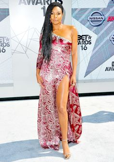 Gabrielle Union stunned in a cranberry and silver Marc Jacobs gown at the 2016 BET Awards. See what other stars wore!