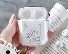 Clear AirPods case Great Wave Off Kanagawa AirPod case Wave Apple AirPods case ocean Air Pod cover Great Wave Air Pods holder japanese art - iPhone - Phonecases Great Wave Off Kanagawa, Bts Love, Cute Ipod Cases, Accessoires Iphone, Aesthetic Phone Case, Earphone Case, Tablet, Air Pods, Colorful Nails