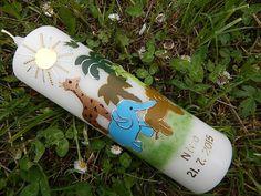 55 TAUFKERZE Arche Noah Junge Mädchen NEU 2015 von Lenz Kerzen auf DaWanda.com