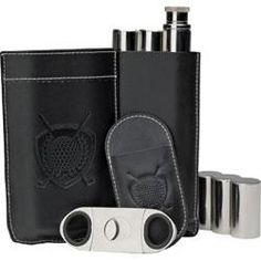 Cigar, Flask and Cutter Set - http://www.golfhq.com/golf-gifts/gifts-25-50/cigar-flask-and-cutter-set.html