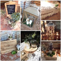Inspiration board of our work at Well Planned Weddings and Events