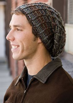 Totally Tam pattern by Shannon Mullett-Bowlsby free crochet hat patterns for men crochet hats for men beanies sci fi fan slouch waves Crochet Beanie Hat, Beanie Pattern, Beanie Hats, Knitted Hats, Crochet Hats, Slouchy Beanie, Beanies, Crochet Men, Crochet World