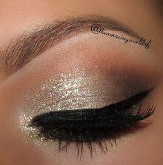 Awsome makeup look <3 created using Gliterrati eyeshadow from ColourPop