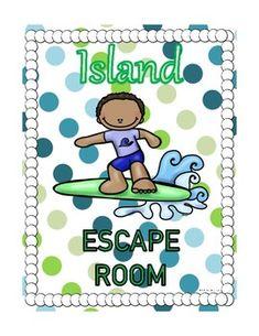 Island Escape Room Activity Escape Room Challenge, Elementary Schools, Elementary Teacher, Team Challenges, Back To School Activities, Teaching Materials, Problem Solving, Teacher Resources, Sd