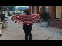 """Chal """"Violeta"""" a crochet para principiantes Chal №38 - YouTube"""