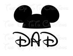 Mickey Mouse Dad Printable Iron On Transfer DIY Disney Trip
