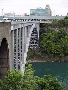 The Rainbow Bridge / Border Crossing between Ontario Canada and New York State USA