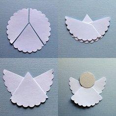 elegantes Papier-Engel basteln
