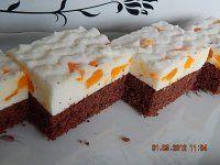 Mandarinkové řezy s kefírem Kefir, Good Mood, Cheesecake, Yummy Food, Sweet, Pies, Recipes, Delicious Food, Cheese Cakes