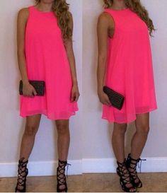 Ladylike Round Collar Solid Color Sleeveless Chiffon Dress For WomenChiffon Dresses | RoseGal.com