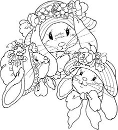 There's many Easter Bunny patterns at this link.