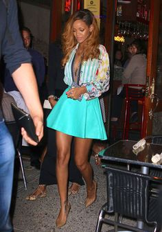 Rihanna in Balmain