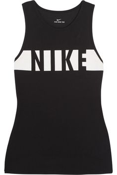 0d4bed90adc103 Nike - Printed Dri-FIT cotton-blend jersey tank