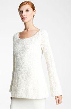 Donna Karan Collection Bouclé Wool & Cashmere Sweater available at #Nordstrom