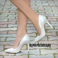 Beyaz Stiletto, #white #stiletto #bridal #bride