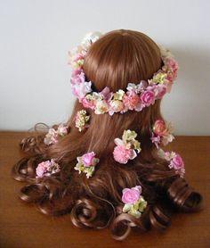 キュートな花嫁様に☆ ピンク~イエローの花冠&ヘアパーツ♡ の画像|Ordermade Wedding Flower Item MY FLOWER ♪ まゆこのブログ